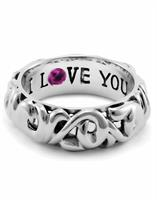 CHARLES KRYPELL I LOVE YOU RING SIZE 7.5
