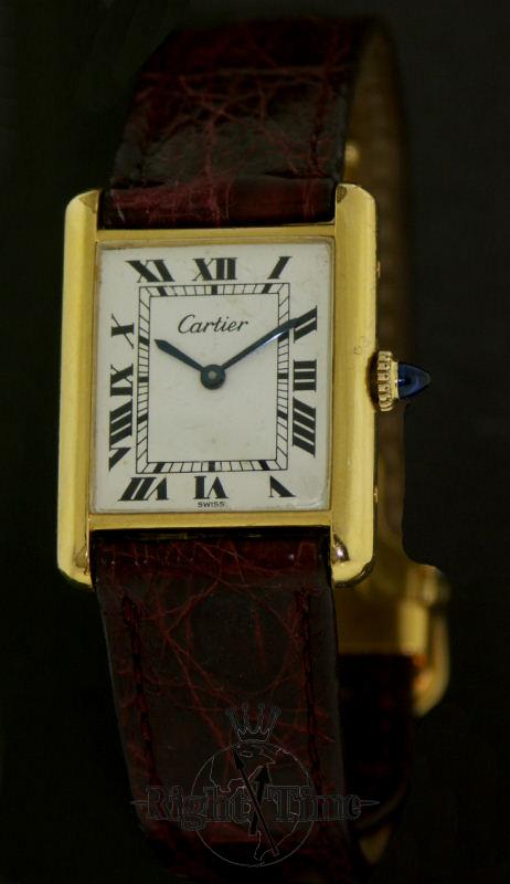 cartier manual wind tank 409065 preowned mens watches