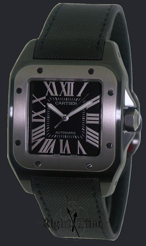 cartier santos 100 carbon w2020010 pre owned mens watches