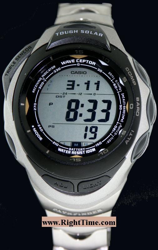 casio pathfinder 3sensor titan paw1200t 7v pre owned mens watches rh righttime com Casio Sport Pathfinder Watch Band Casio Pathfinder Watch Manual