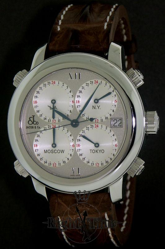 jacob co 5 world times automatic h24ssg pre owned