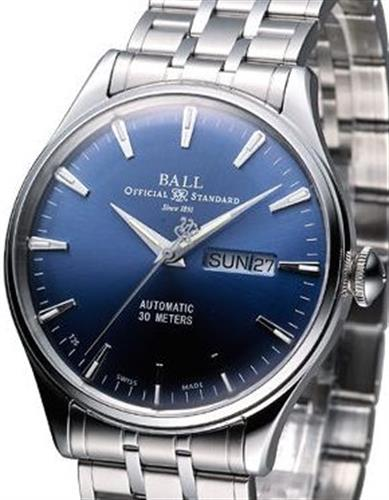 Eternity blue dial nm2080d sj be ball trainmaster wrist watch for Ball watches