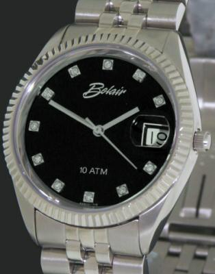 all steel black diamond dial a4600w blk belair men sport wrist watch