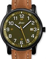 Belair Watches A9340BK/S-GRN/TAN