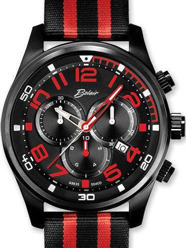 sport black red chronograph a9835bk red belair men sport wrist watch