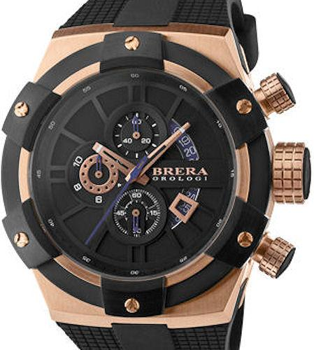 1831fcc3c67 Rose Gold Black Chronograph brssc4902 - Brera Orologi Super Sportivo wrist  watch