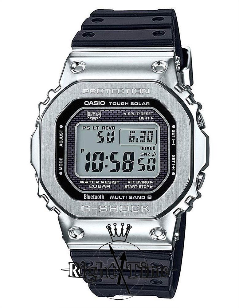 big sale 64998 a21c6 CASIO GMW-B5000-1 G-SHOCK - FULL METAL 5000 STEEL RUBBER