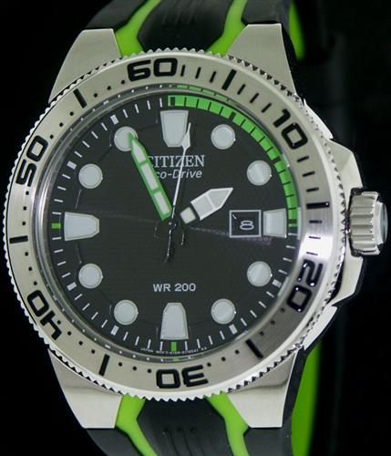 Diver Steel And Green Bn0090 01e Citizen Promaster Wrist Watch