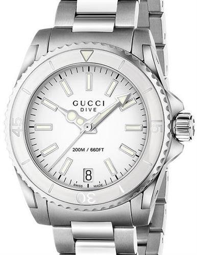 43a72e71e42 Dive Quartz Medium White ya136402 - Gucci Dive wrist watch