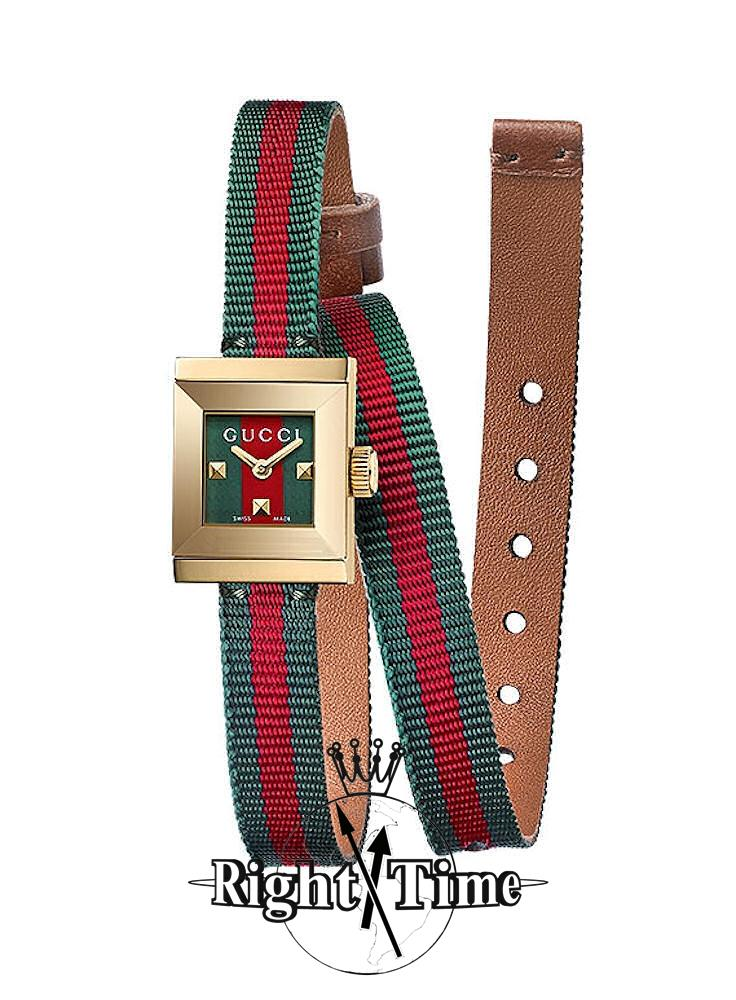 G-Frame Small Square Green-Red ya128527 - Gucci G-Timeless wrist watch