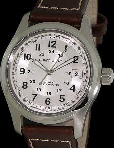 4b7606daba7 Khaki Field Silver Dial Auto h70455553 - Hamilton Khaki wrist watch