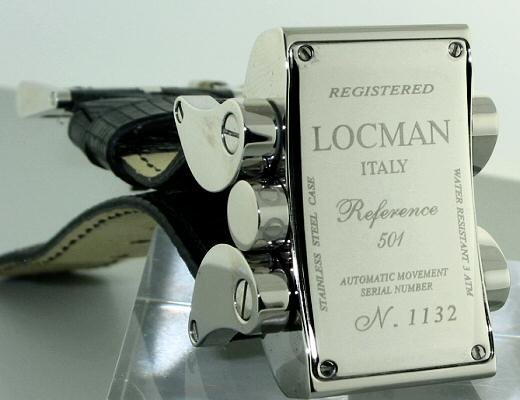 Locman latin lover 050100bk0005lur locman automatic wrist watch screw on style held by screws ccuart Image collections