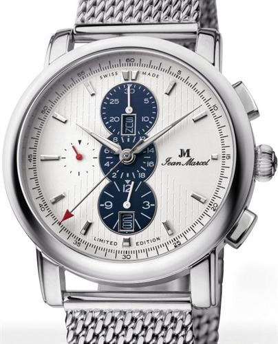 clarus auto chrono white blue jean marcel clarus wrist watch. Black Bedroom Furniture Sets. Home Design Ideas