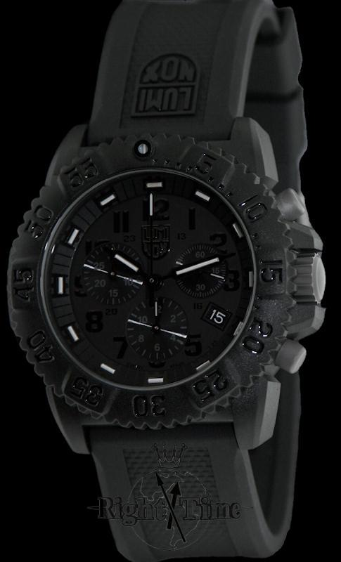 Luminox A 3081 Bo Sea Collection Evo Navy Seal Blackout Chrono