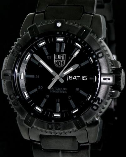 All Black Sw220 Auto Diver A 6502 Bo Luminox Blackout