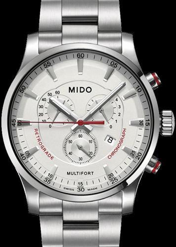 Retrograde Chronograph White M0054171103100 Mido