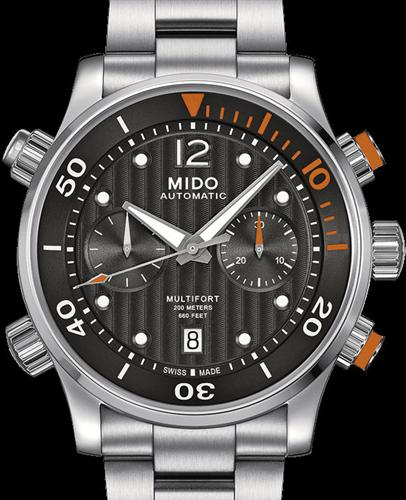 Multifort diver chrono black m0059141106000 mido multifort wrist watch for Mido watches
