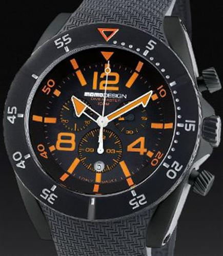 Dive master chrono orange blk md278bk 03bkor rb momodesign dive master wrist watch - Momo design dive master ...