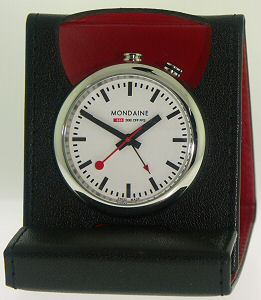 Travel alarm clock mondaine railways alarm clock - Mondaine travel clock ...