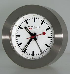 Alarm clock micro gas tub mondaine railways alarm clock - Mondaine travel clock ...