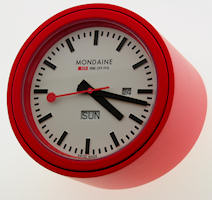 Mondaine Clocks A667.TUBE.30SBB