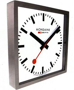 Square wall steel clock mondaine railways wall clock - Swiss railway wall clock ...