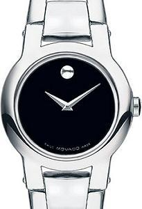 ff52cf15137a0 Women`s Amorosa Black Dial 0604759 - Movado Ladies wrist watch