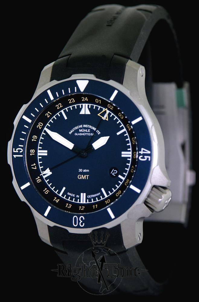 Seebattalion gmt titanium m1 28 62 kb muhle glashutte marinus wrist watch for Muhle watches