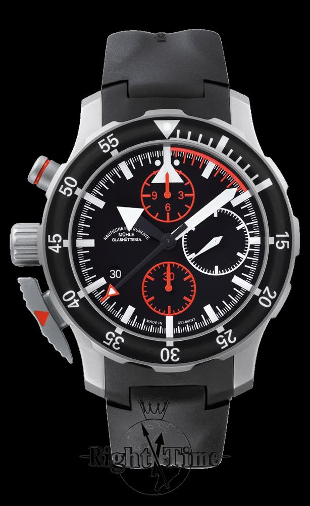 Sar chronograph on rubber m1 41 33 kb muhle glashutte search and rescue wrist watch for Muhle watches