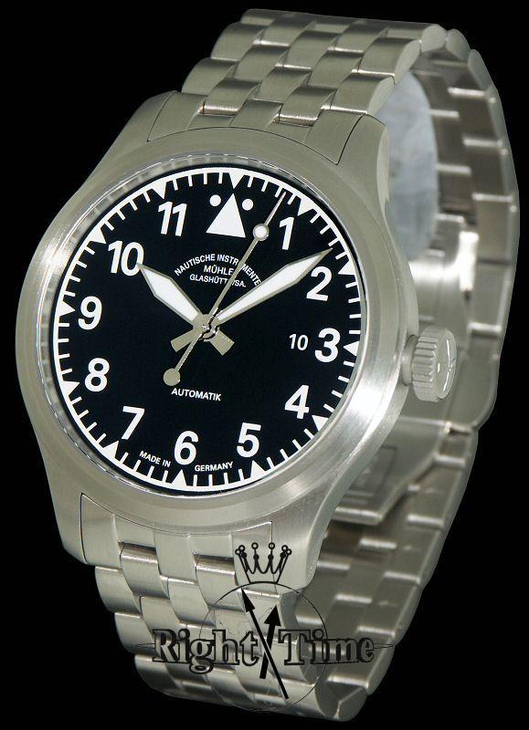 Terra sport i bracelet black m1 37 33 mb muhle glashutte terranaut wrist watch for Muhle watches