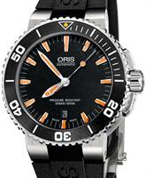 Pre-Owned ORIS AQUIS ORANGE CERAMIC BEZEL