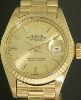Pre-Owned ROLEX DATEJUST 18KT  GOLD