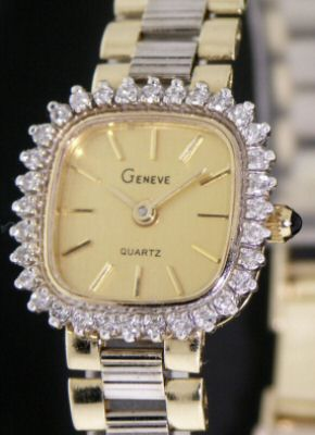 Pre-Owned GENEVE 14KT GOLD WITH DIAMONDS