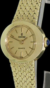 Pre-Owned CONCORD 14KT SOLID GOLD CASE AND BAND