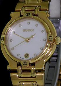 ba2a416a1d8 Gucci Gold Tone Swiss Quartz 9200l - Pre-Owned Ladies Watches