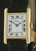 Pre-Owned CARTIER TANK LOUIS CARTIER 18KT MANUAL