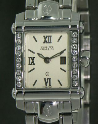 Pre-Owned PHILIPPE CHARIOL COLUMBUS DIAMOND BEZEL