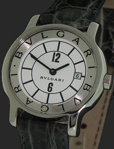 Pre-Owned BVLGARI SOLOTEMPO STEEL QUARTZ