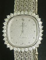 Pre-Owned OMEGA 18KT WHITE GOLD & DIAMONDS