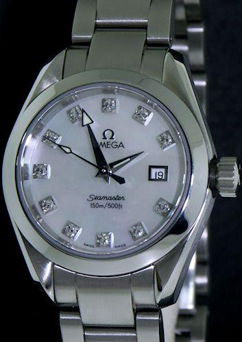 Pre-Owned OMEGA SEAMASTER AQUATERRA QUARTZ MOP