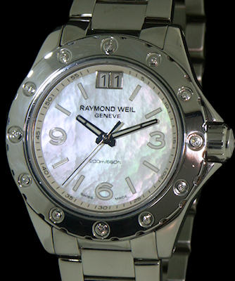 Pre-Owned RAYMOND WEIL SPIRIT MOP DIAL DIAMONDS BEZEL
