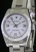 Pre-Owned ROLEX OYSTER PERPETUAL WHITE DIAL