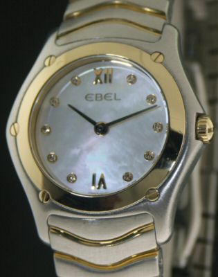 Pre-Owned EBEL CLASSIC WAVE 18KT BEZEL