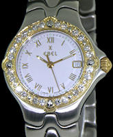 Pre-Owned EBEL SPORTWAVE GOLD DIAMOND BEZEL