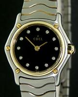 Pre-Owned EBEL CLASSIC WAVE 18KT BEZEL BLACK
