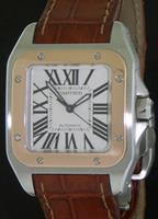 Pre-Owned CARTIER SANTOS 100 18KT GOLD BEZEL
