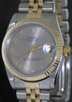 Pre-Owned ROLEX DATEJUST 18KT/SS PLATINUM DIAL