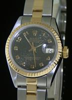 Pre-Owned ROLEX DATEJUST 18KT/STEEL BLACK