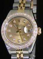 Pre-Owned ROLEX DATEJUST DIAMOND DIAL & BEZEL