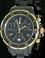 Pre-Owned MICHELE JETWAY GOLD BLACK CERAMIC